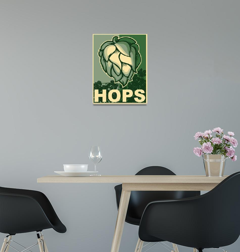 """Hops in green""  (2014) by nealw6971"