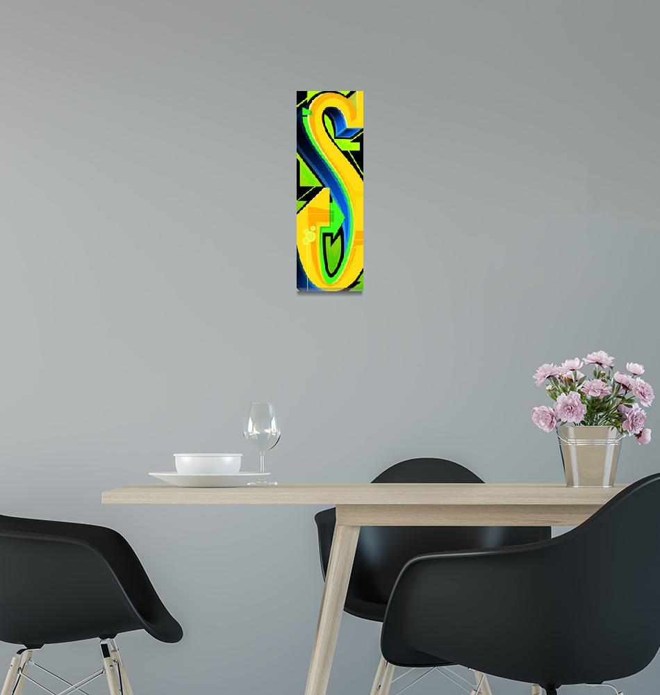 """""""Graffiti Letter S""""  (2010) by Bluemos"""