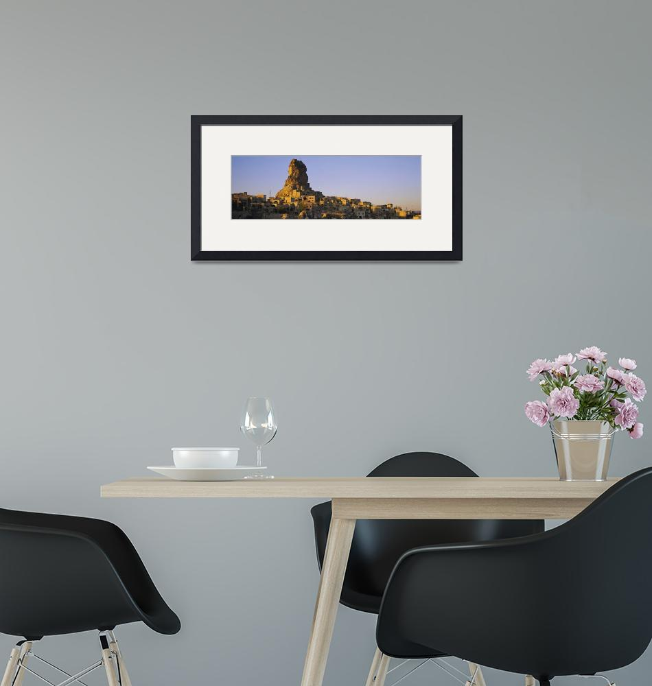 """""""Low angle view of a rock formation in a village""""  by Panoramic_Images"""