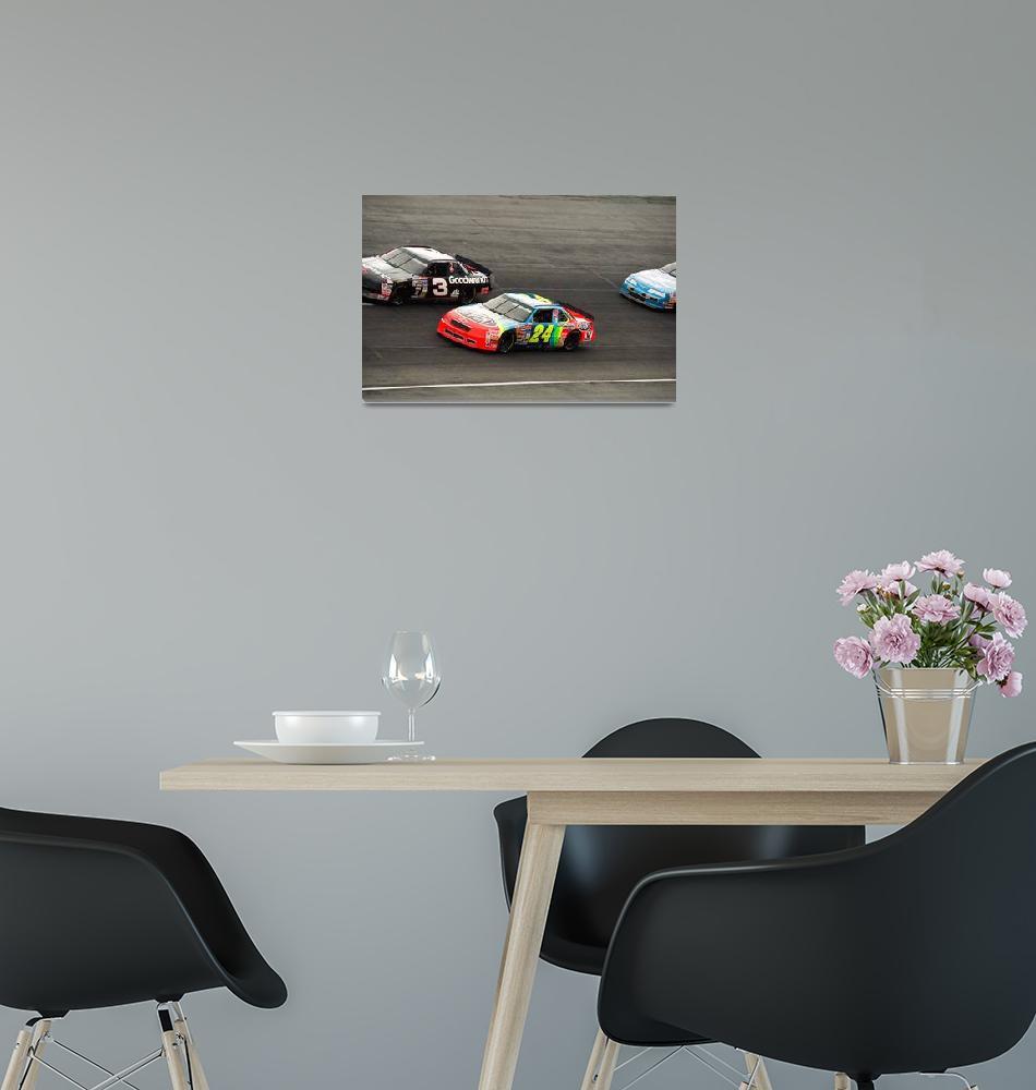 """Dale Earnhardt and Jeff Gordon"" by RetroImagesArchive"