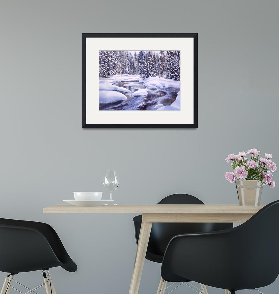 """""""Snowbound""""  by Pacific-NW-Watercolors"""