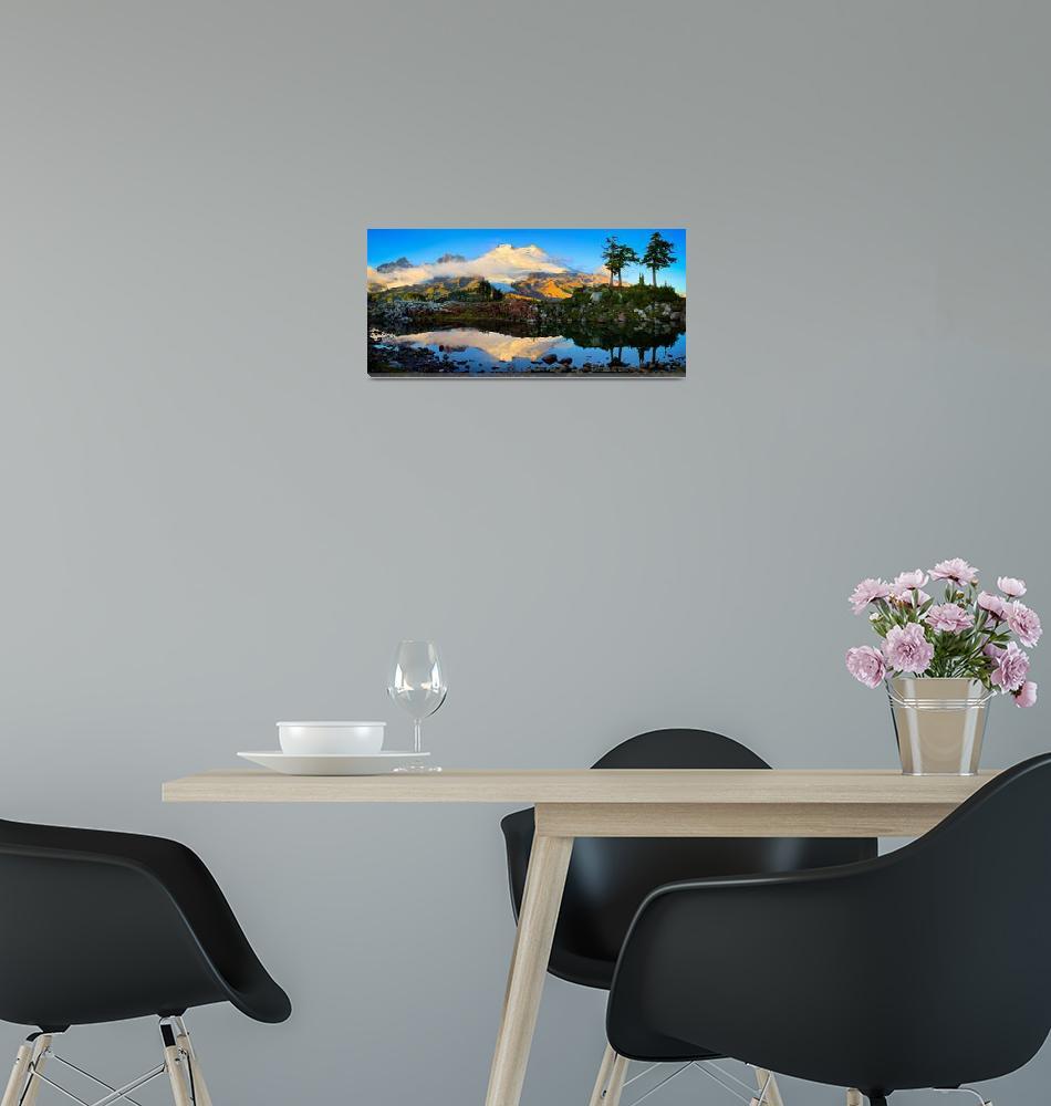 """Mount Baker Panorama""  (2009) by Inge-Johnsson"