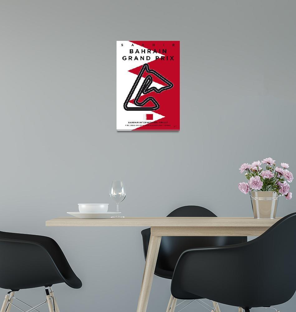 """My F1 BAHRAIN Race Track Minimal Poster""  by Chungkong"