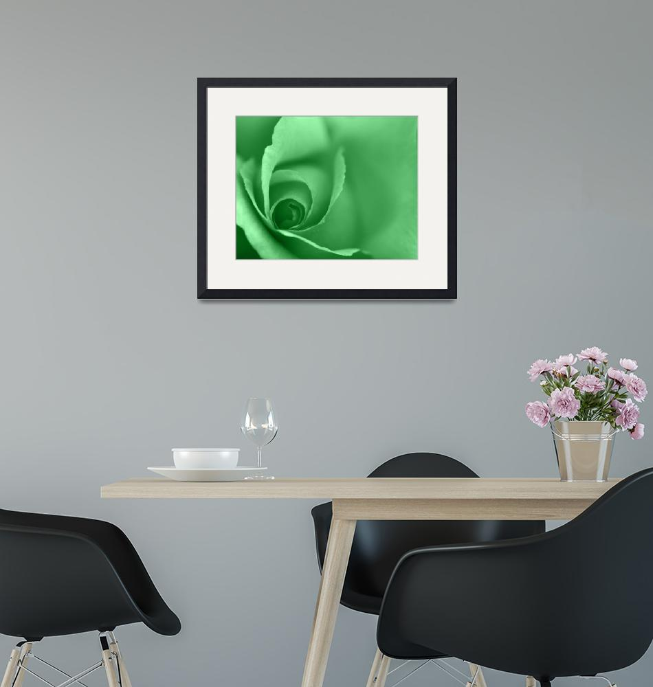 """Lime Green Coloured Floral Wall Art""  (2012) by NatalieKinnear"