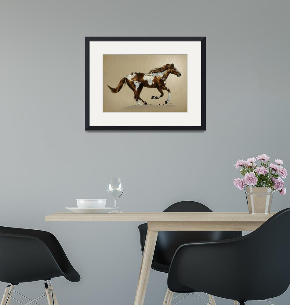 """""""horse_poster_PINTO""""  (2012) by nicktubbs"""