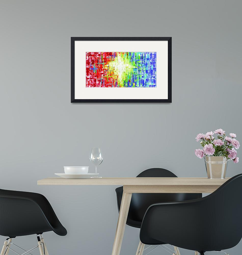 """""""Abstract Multicolored art""""  (2015) by modernhouseart"""