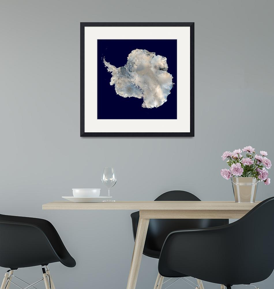"""""""Antarctica 6400px from Blue Marble""""  by motionage"""