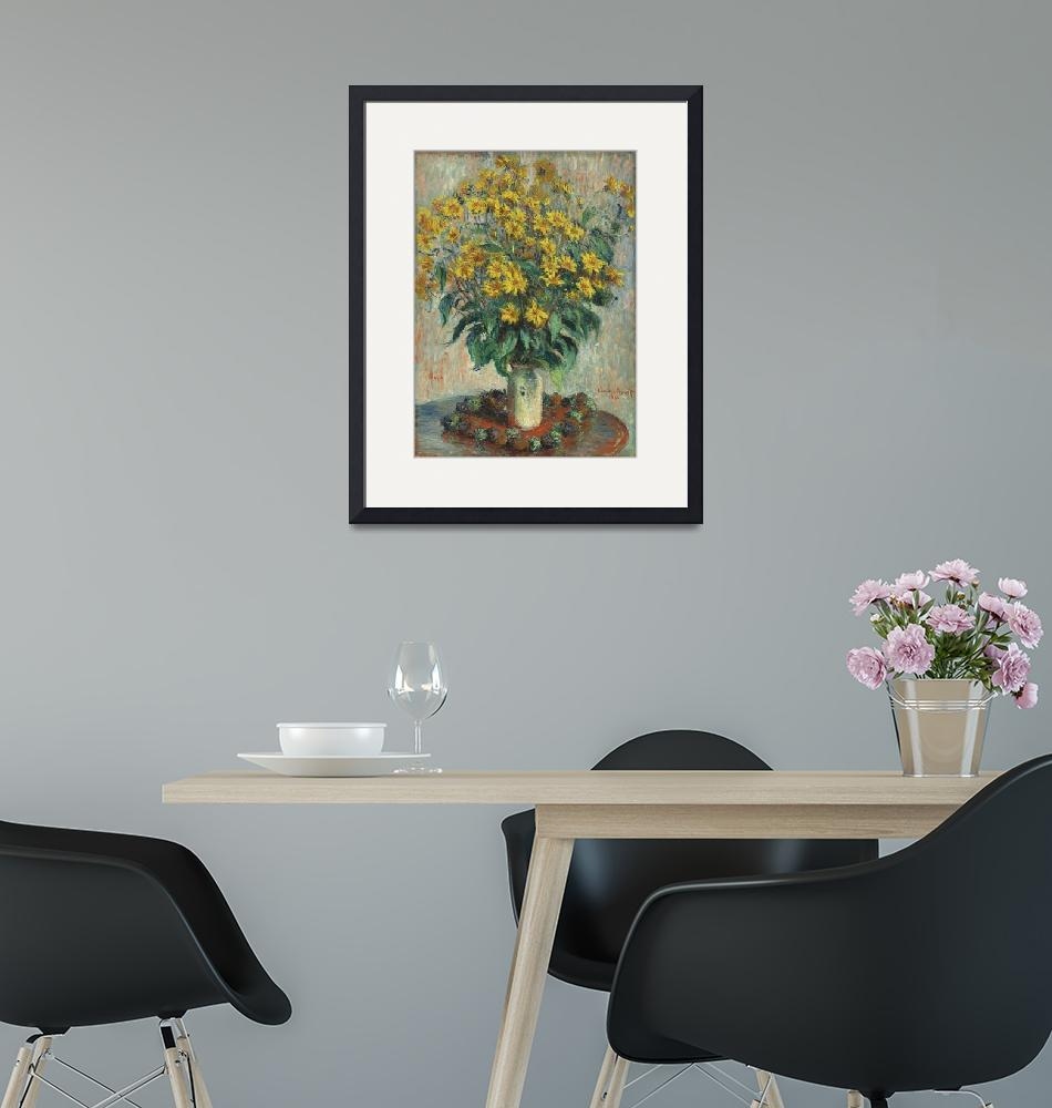 """Jerusalem Artichoke Flowers by Claude Monet""  by FineArtClassics"
