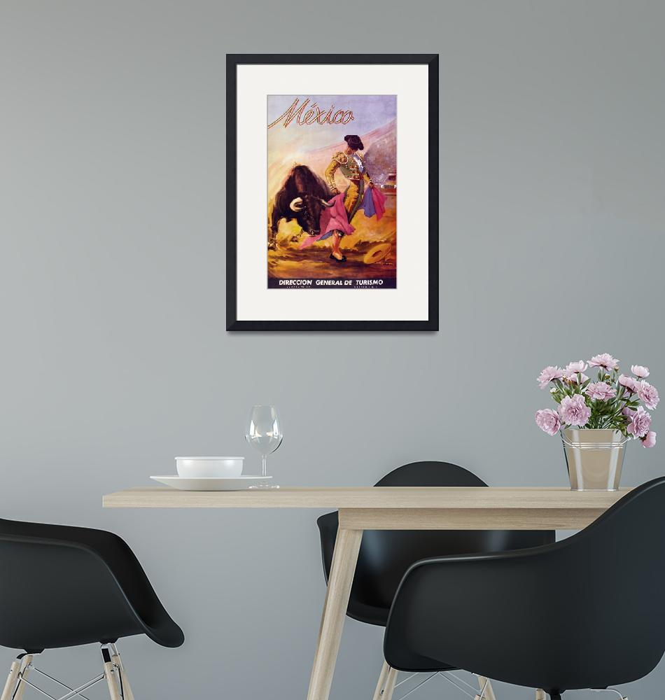 """""""Mexico Vintage Travel Poster"""" by FineArtClassics"""