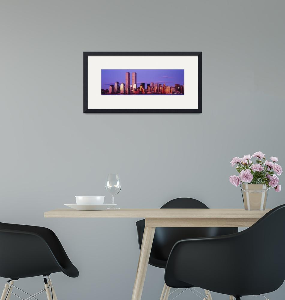 """""""Skyscrapers in a city""""  by Panoramic_Images"""