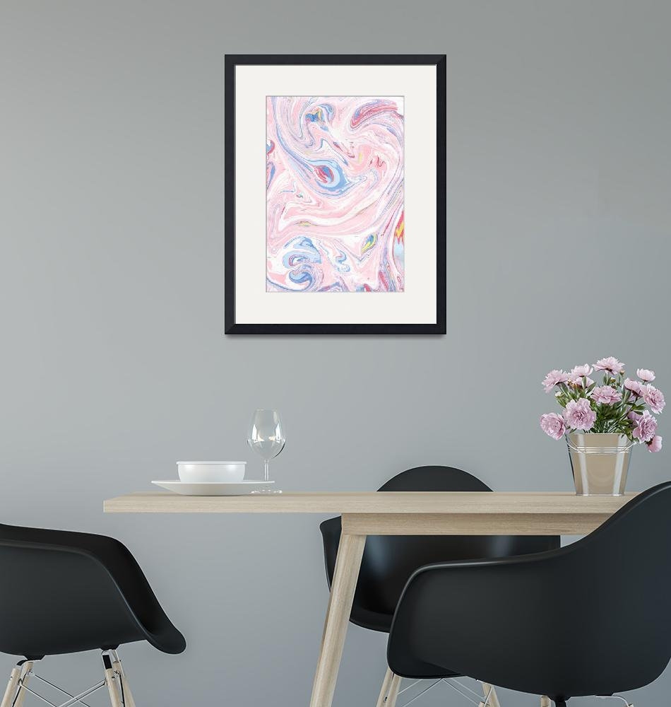 """""""Pink Marble Luxury Rose Pastel Abstract Modern Art"""" by fineartgallery"""