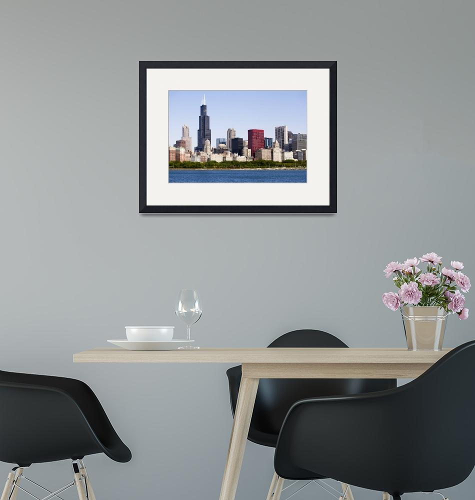 """Chicago Skyline with Willis-Sears Tower""  (2010) by PaulVelgos"