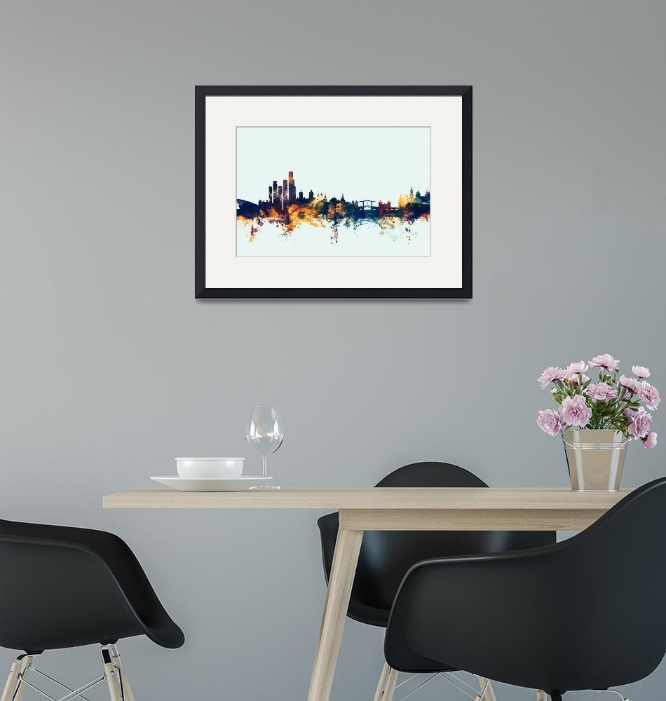 """Amsterdam The Netherlands Skyline""  (2015) by ModernArtPrints"