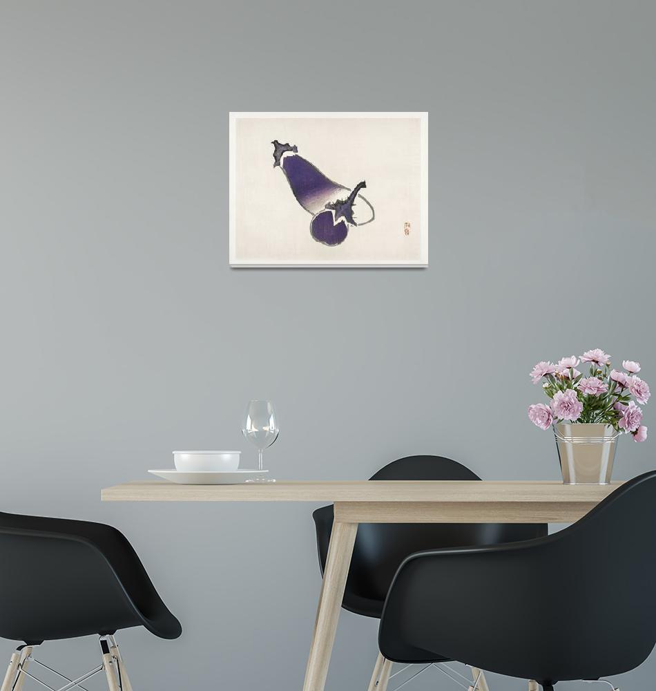 """Eggplants by Kono Bairei""  by FineArtClassics"