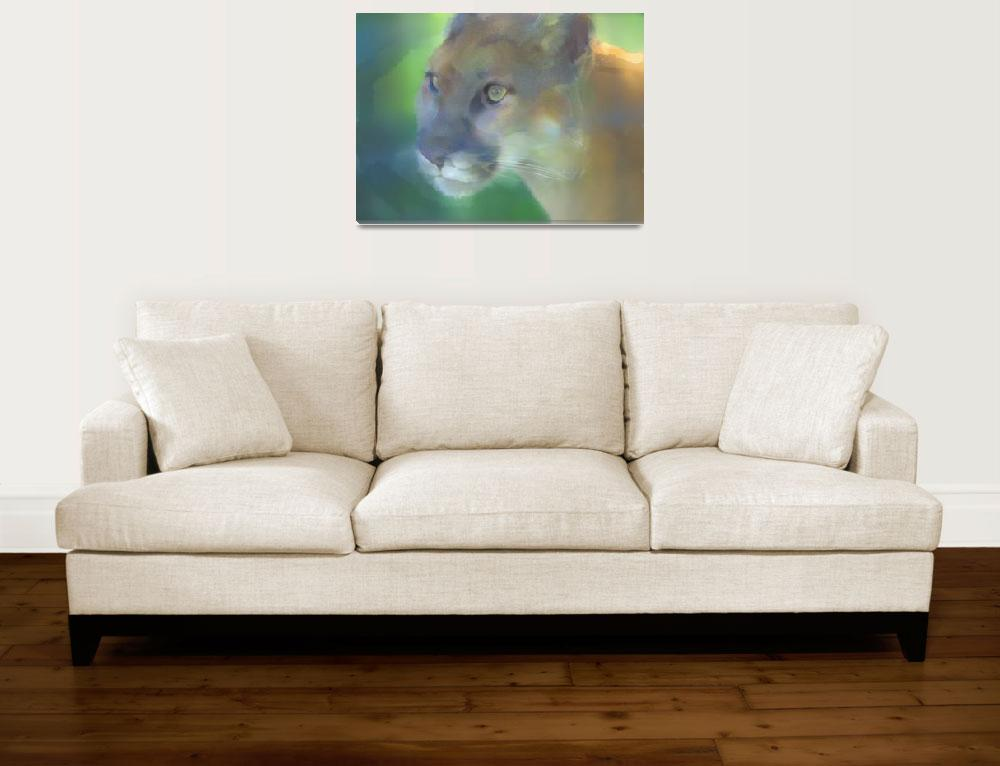 """""""Mountain Lion Watercolor Effect""""  (2006) by SederquistPhotography"""