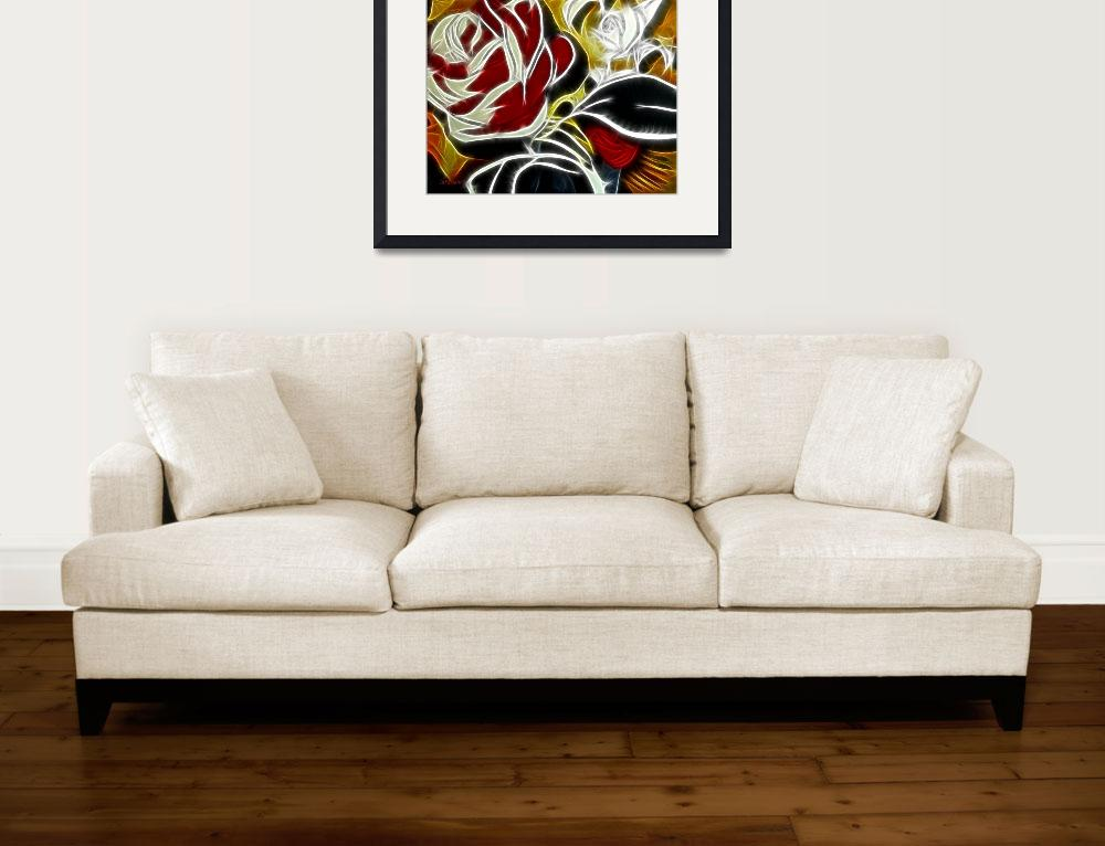 """""""Roses, fire and ice&quot  (2008) by LutzBaar"""