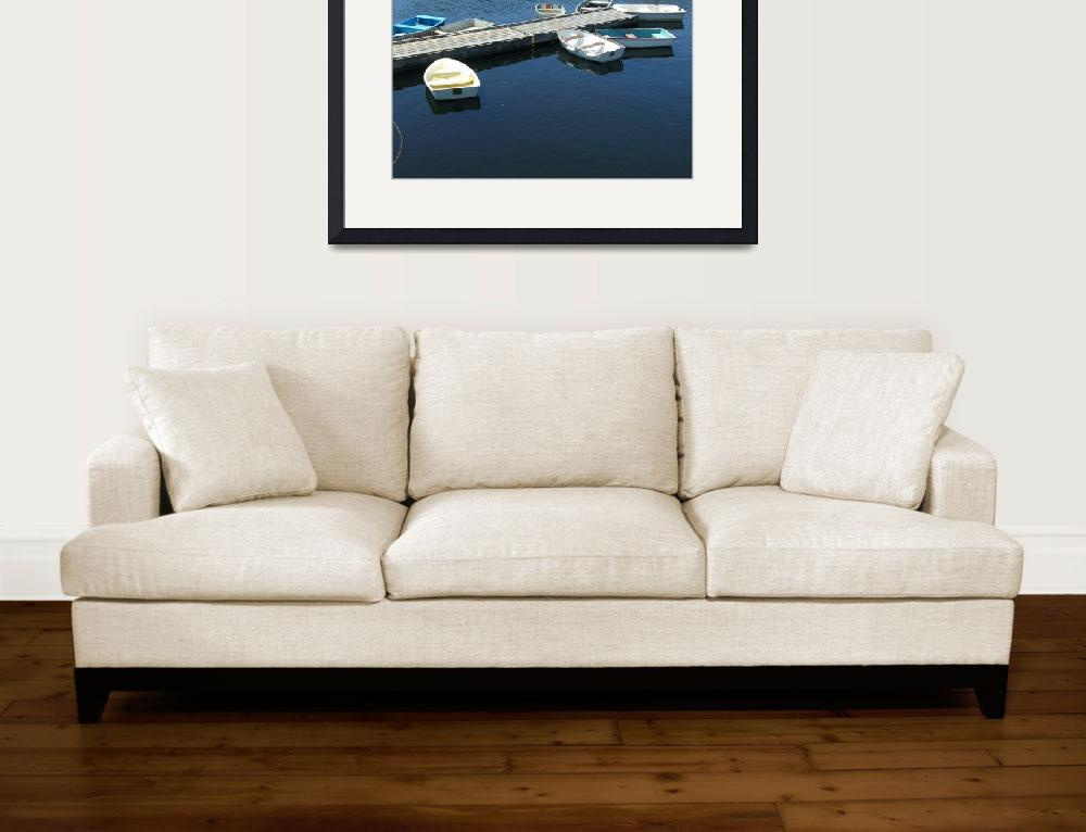 """""""row boats, perkins cove&quot  (2009) by lyntamm"""