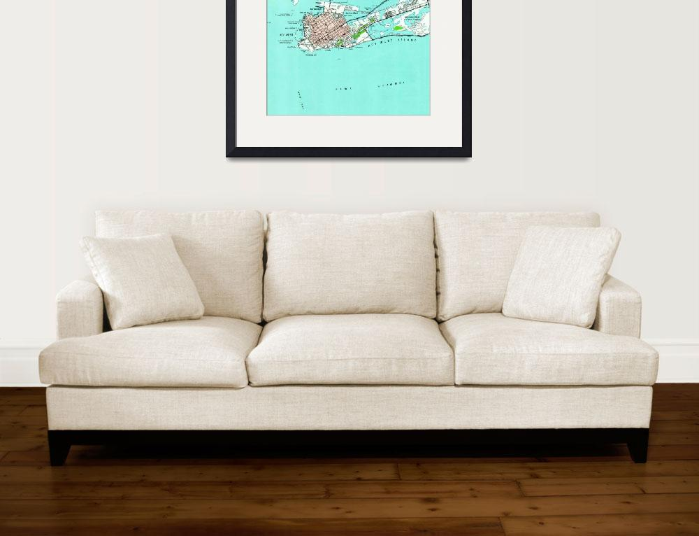 """Vintage Map of Key West Florida (1962)&quot  by Alleycatshirts"