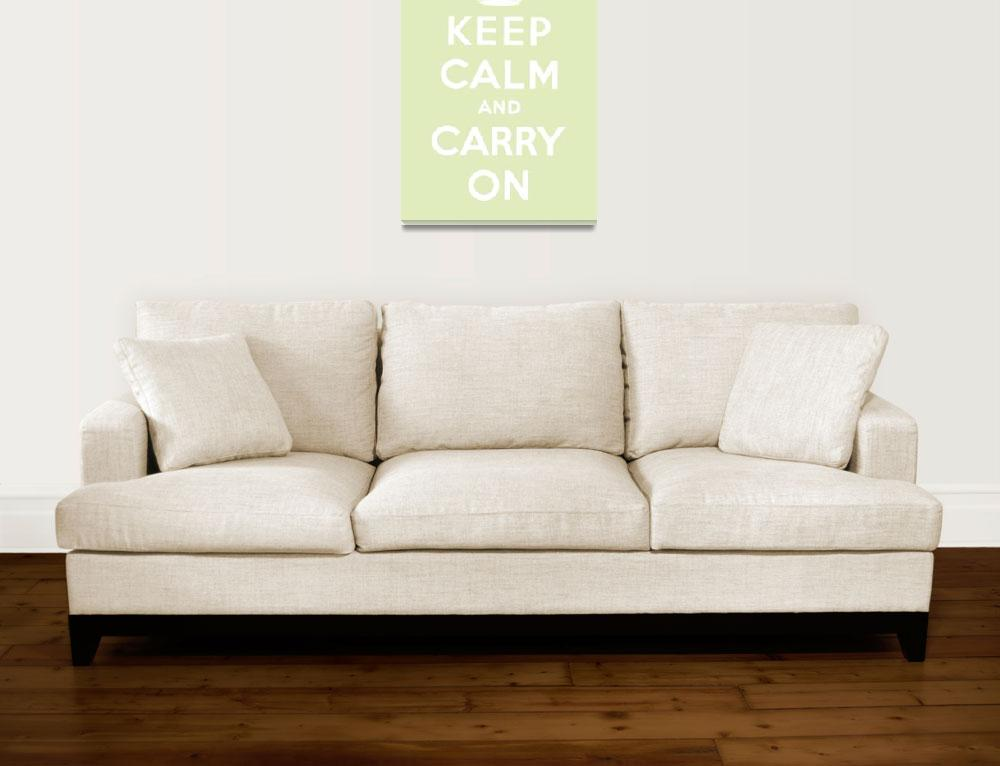 """Green Keep Calm And Carry On 7&quot  by oldies"