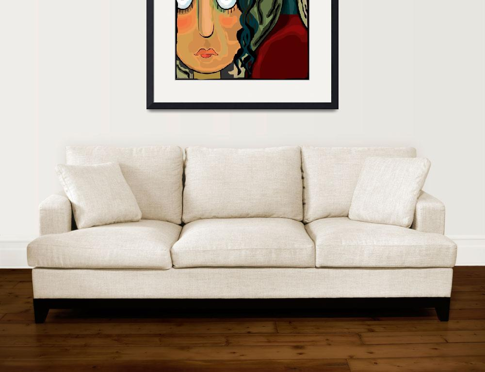 """""""Abstract girl&quot  (2009) by digitalpainting"""