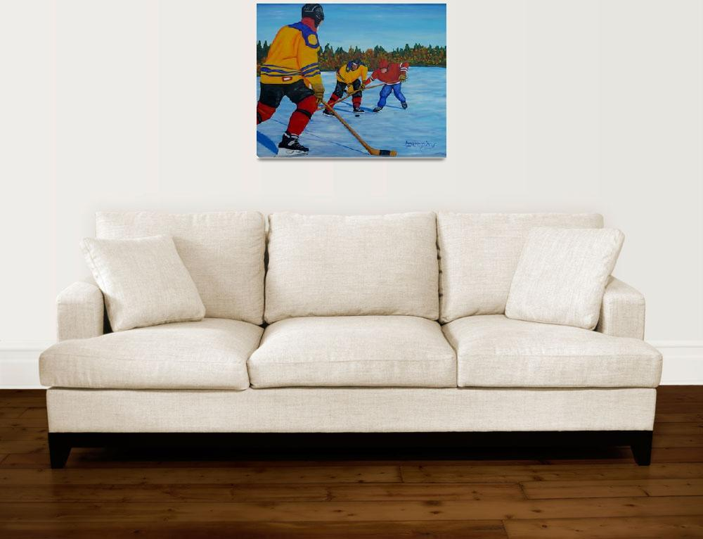 """""""Loose Puck""""  (2016) by anthonydunphy"""
