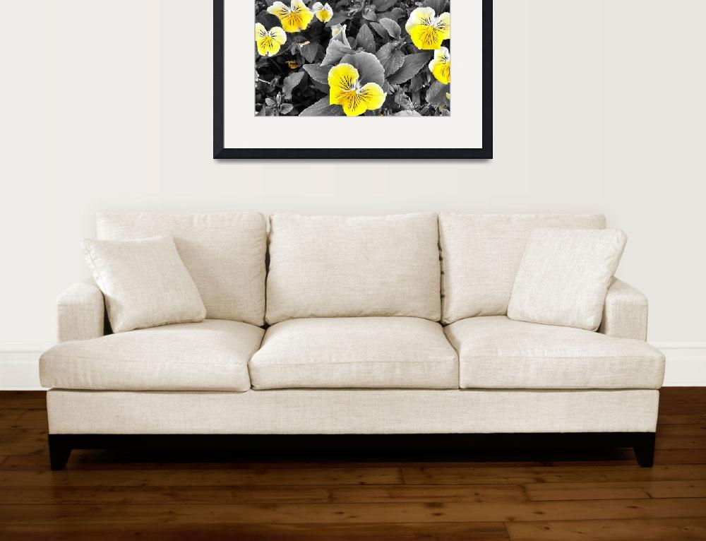 """Pansy in Yellow&quot  (2014) by SilverLeaf"