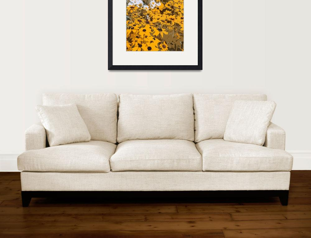 """Black Eyed Susans and Daisies&quot  (2012) by walbyent"