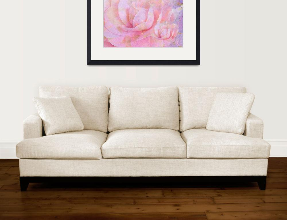 """""""soft camellias&quot  (2017) by flowersinabstract"""