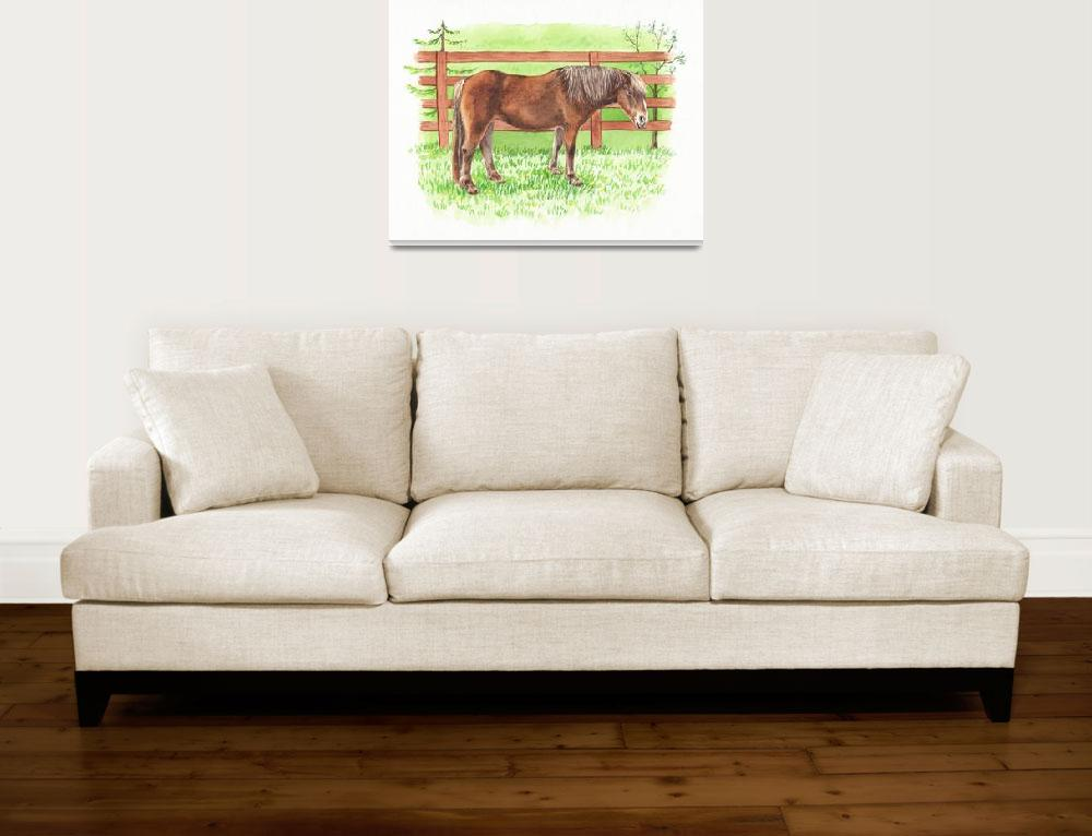 """""""Dreaming To Ride Happy Horse At The Ranch&quot  (2018) by IrinaSztukowski"""