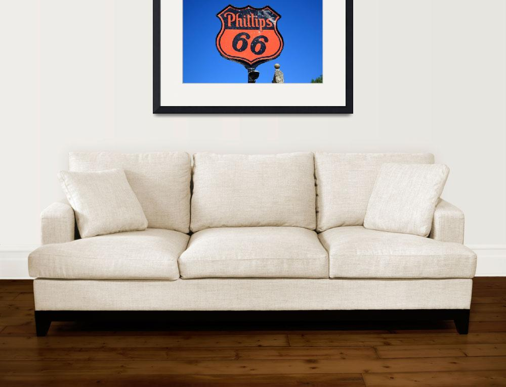 """""""Route 66 - Phillips 66 Petroleum&quot  (2012) by Ffooter"""