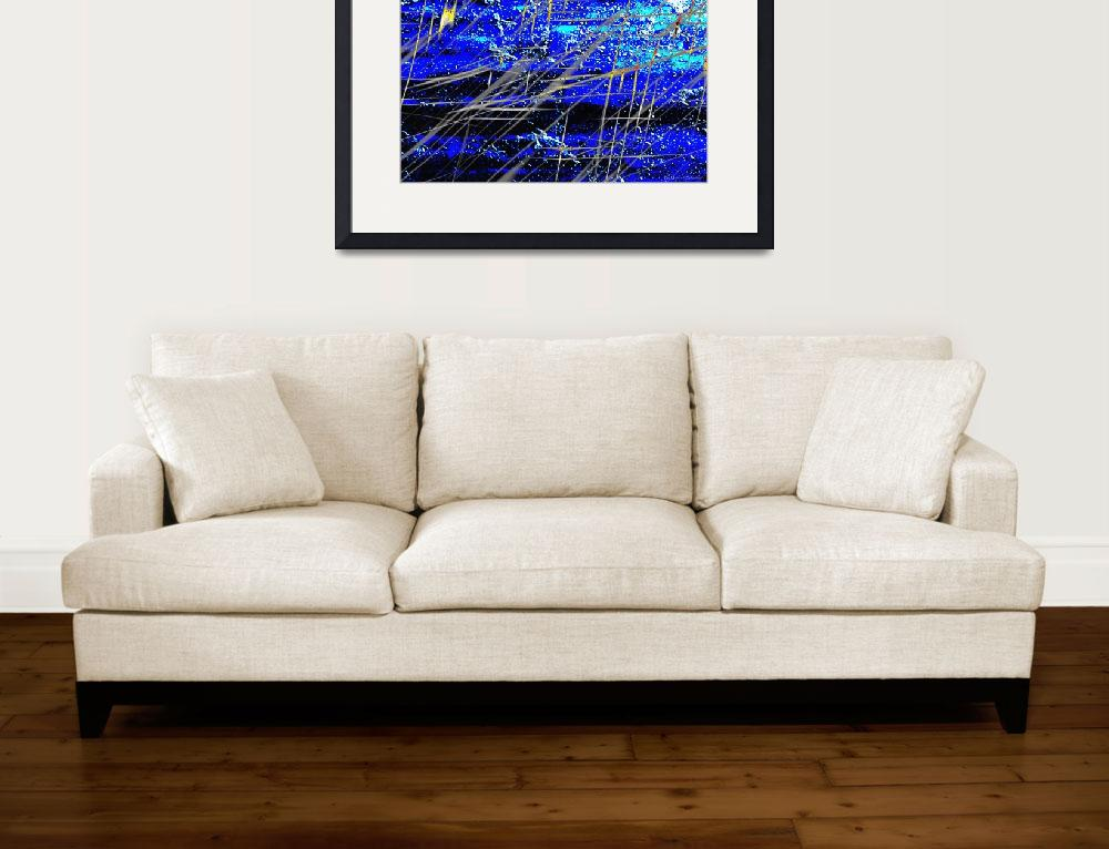"""""""Blue Power&quot  (2011) by ArtByManfred"""