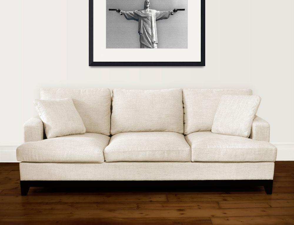 """""""Redemption Text Black And White&quot  (2015) by RubinoFineArt"""
