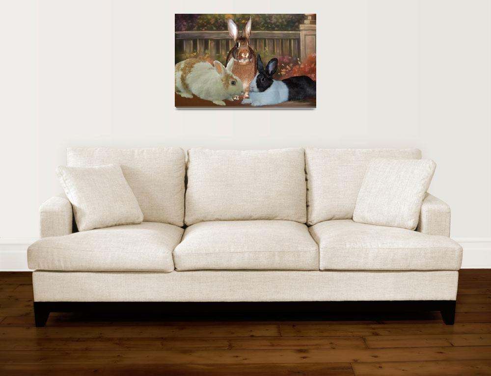 """""""Pet Rabbits""""  (2012) by DBell"""