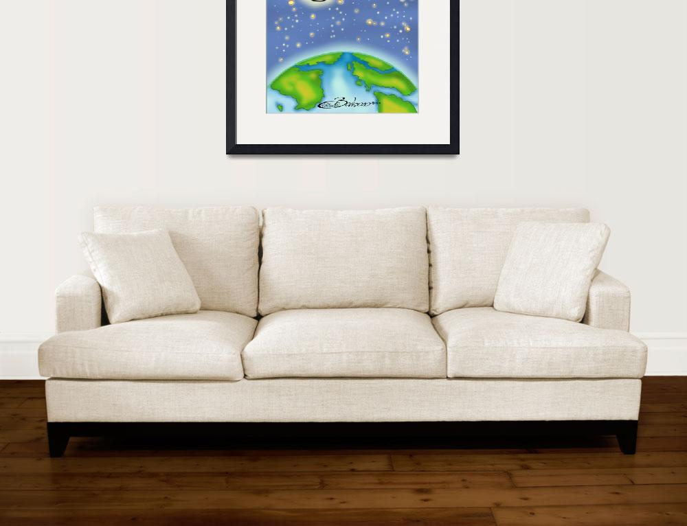 """""""Moon in the Universe&quot  (2014) by BarbaraPelizzoli"""