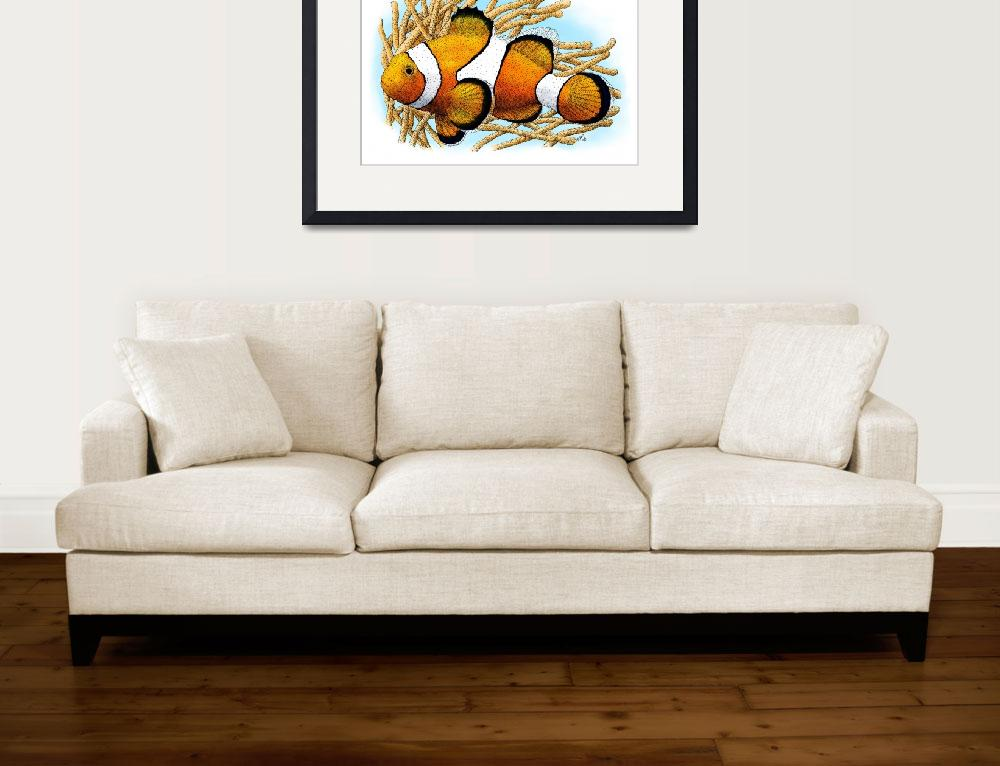 """""""Common Clownfish&quot  by inkart"""