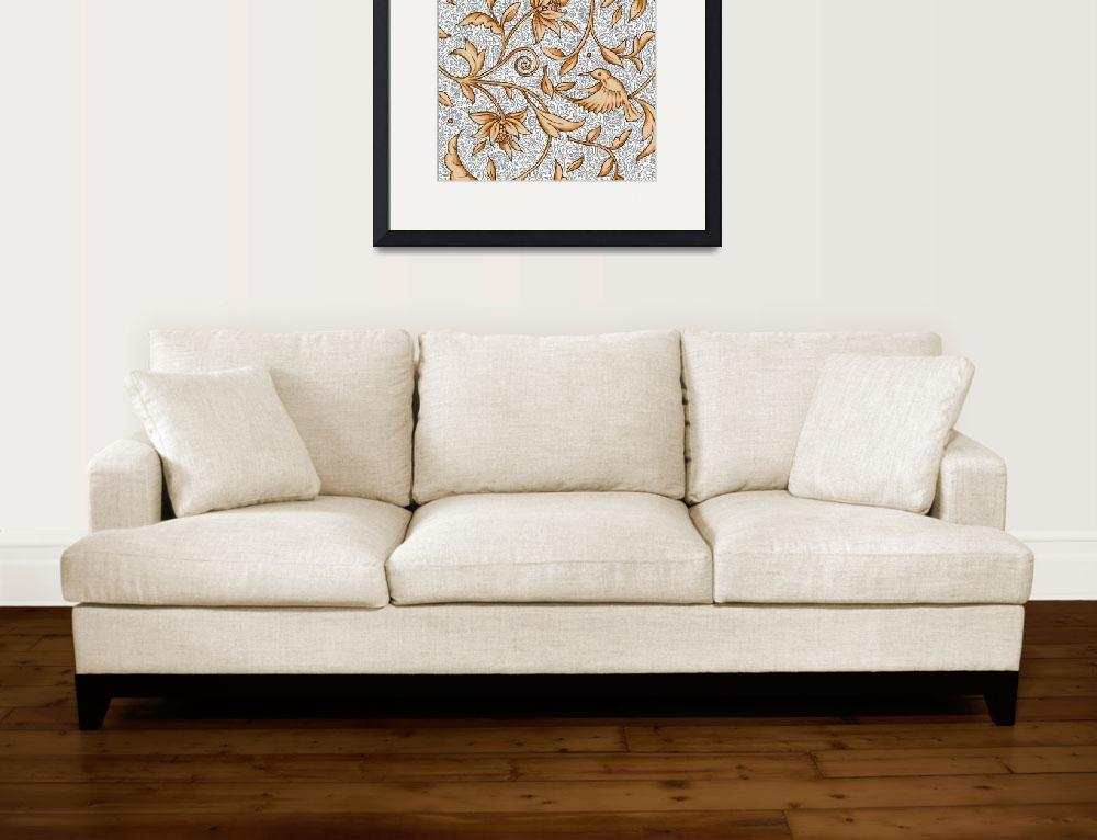 """""""Floral White Chintz""""  by SteviesArt"""