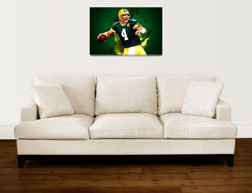 """brett favre green bay packers&quot  by taylansoyturk"