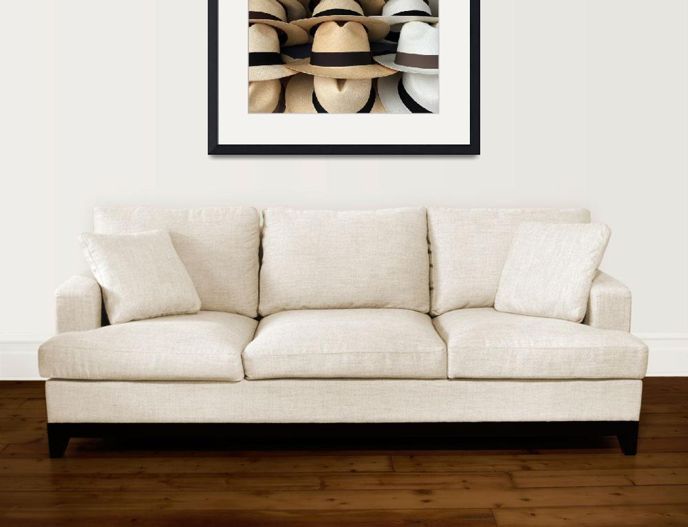 """""""Beige and White Panama Hats&quot  (2014) by rhamm"""
