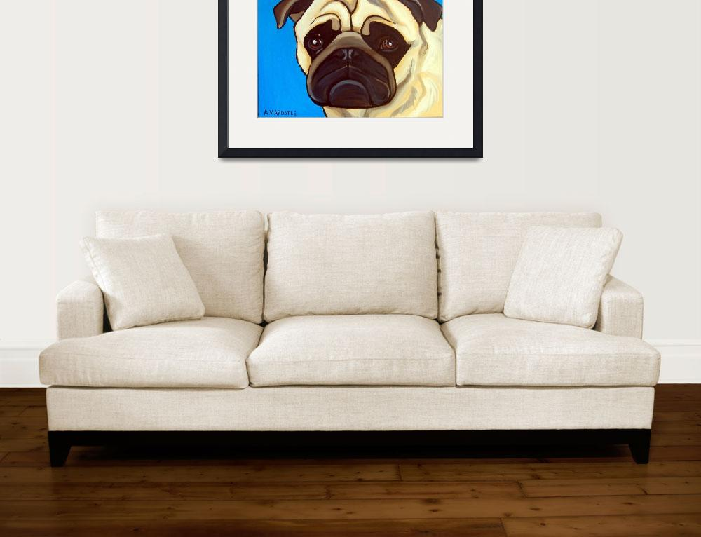 """Light Blue Pug&quot  (2010) by AVApostle"