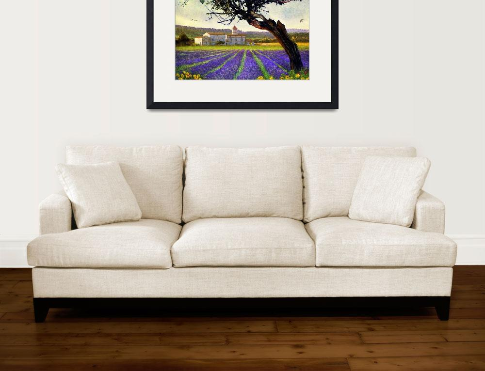 """""""bent tree and villa with lavender&quot  (2014) by rchristophervest"""