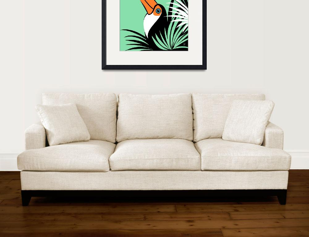 """Stylized Toco Toucan&quot  by waterart"