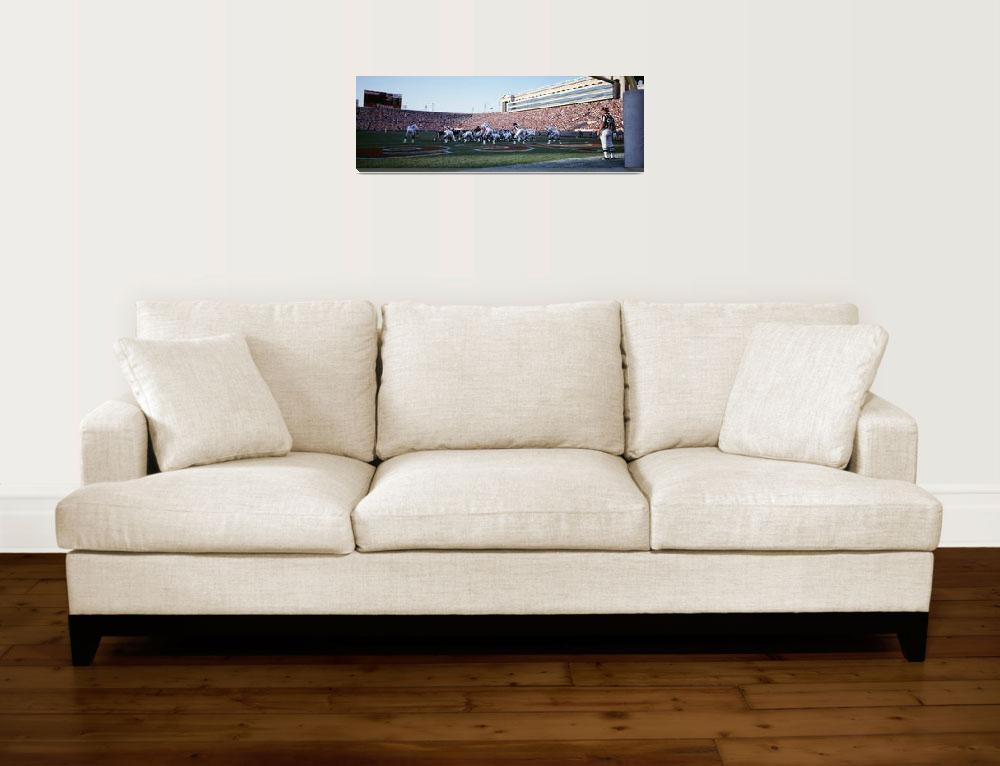 """Football Game Soldier Field Chicago IL""  by Panoramic_Images"