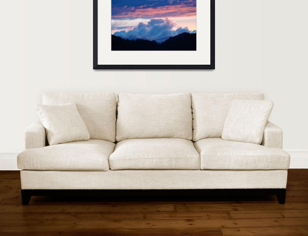 """""""OFFICE ART Collection Sunsets Blue Clouds Pink Sky""""  (2009) by BasleeTroutman"""