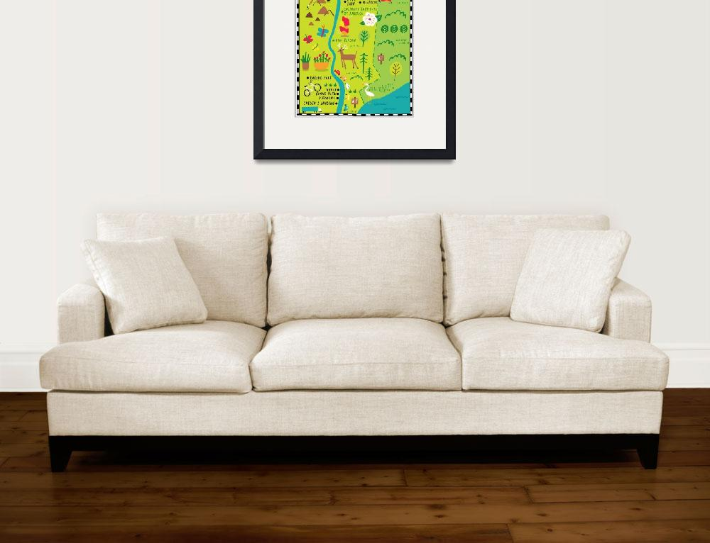 """""""Illustrated Map of Hudson Valley by Nate Padavick&quot  by TheyDrawandCook"""