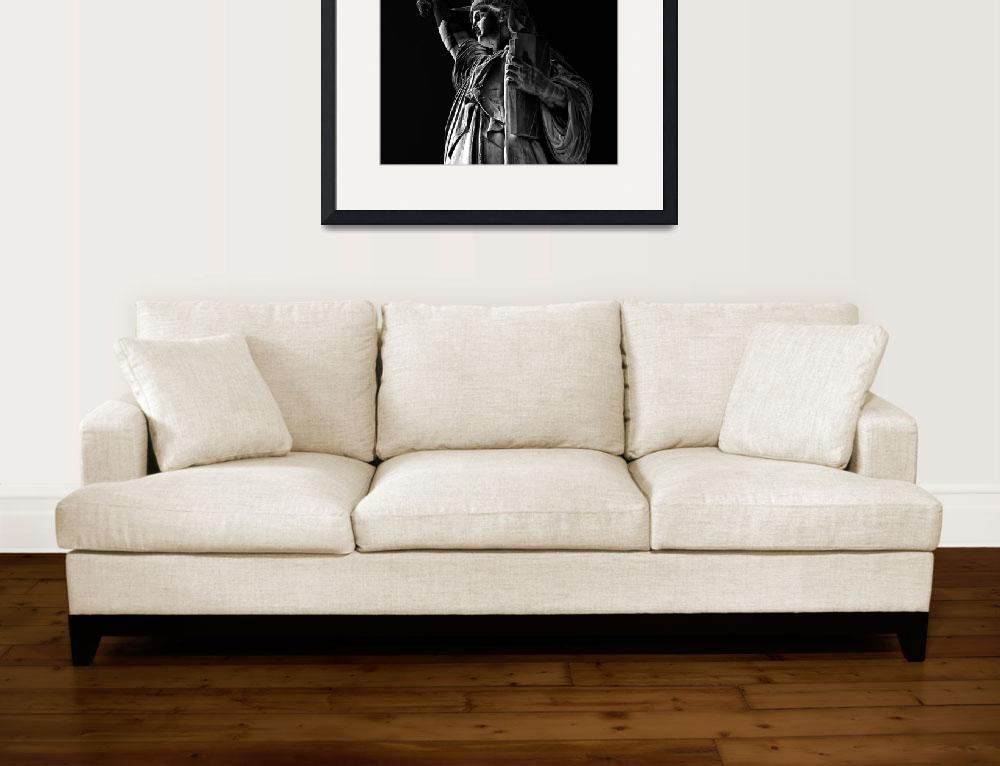 """""""Statue of Liberty in Black and White&quot  (2009) by New-Yorkled"""