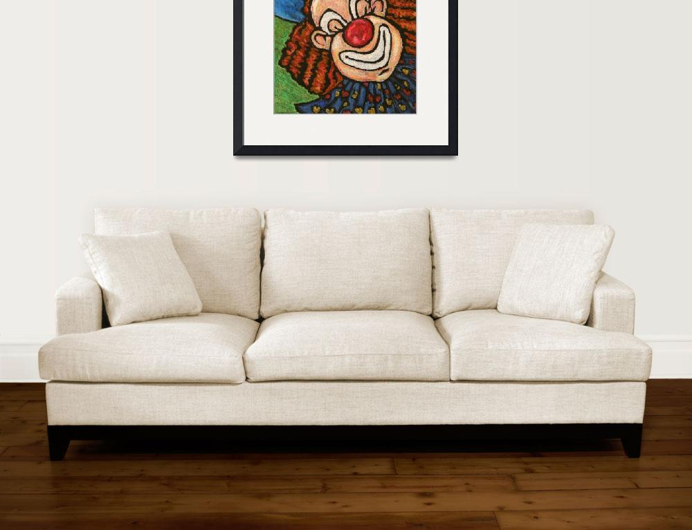 """""""Clown with Balloons&quot  (1998) by bphillips"""