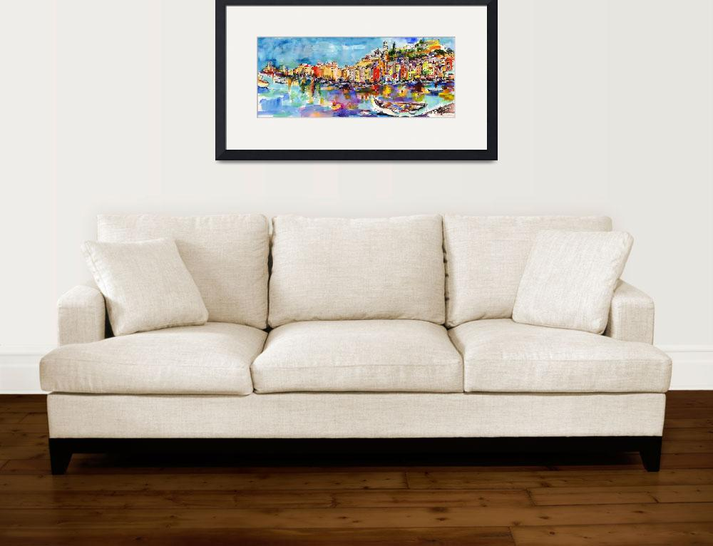 """Portovenere Italy Original Painting by Ginette Cal&quot  (2007) by GinetteCallaway"