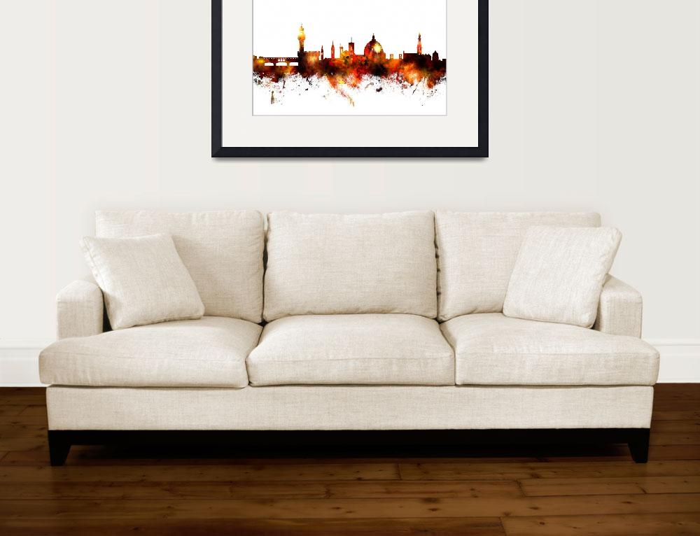 """""""Florence Italy Skyline&quot  (2016) by ModernArtPrints"""