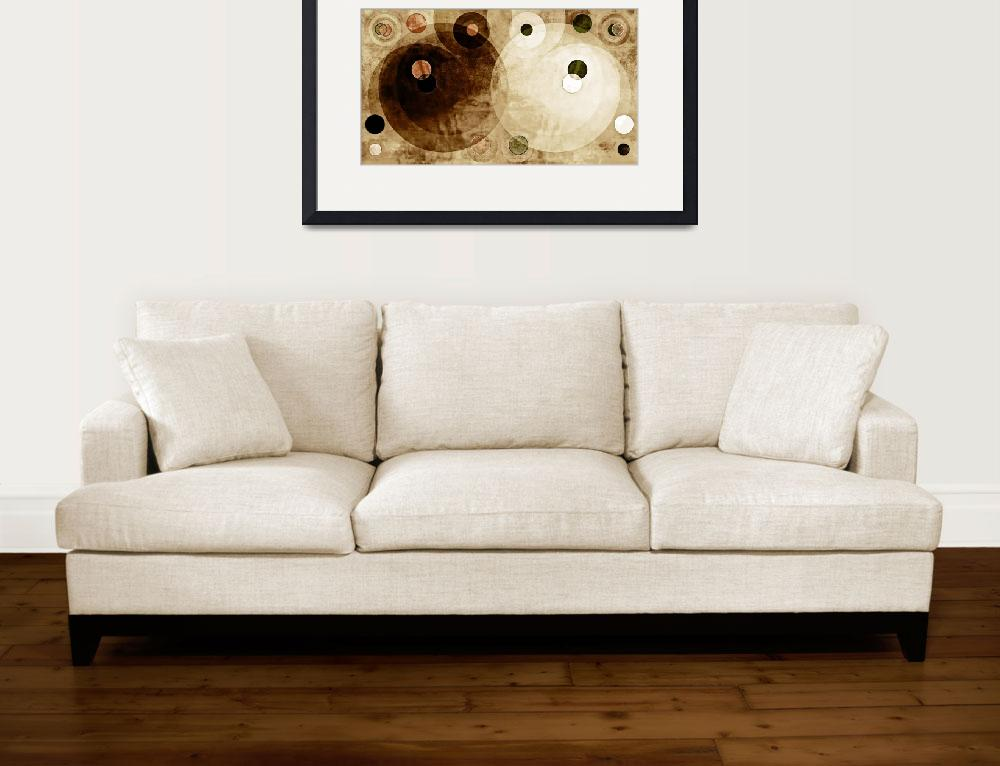"""""""Brown and Tan Circle Abstract""""  (2016) by MRevell"""
