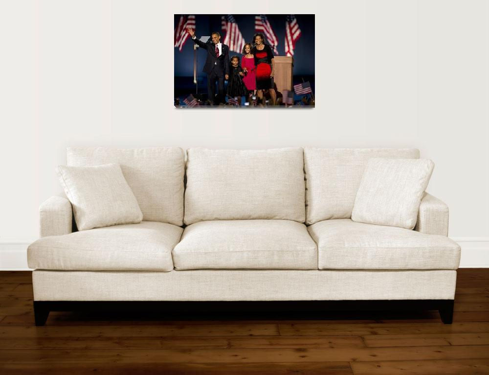 """""""Barack Obama and Family 2&quot  (2008) by hestoft"""